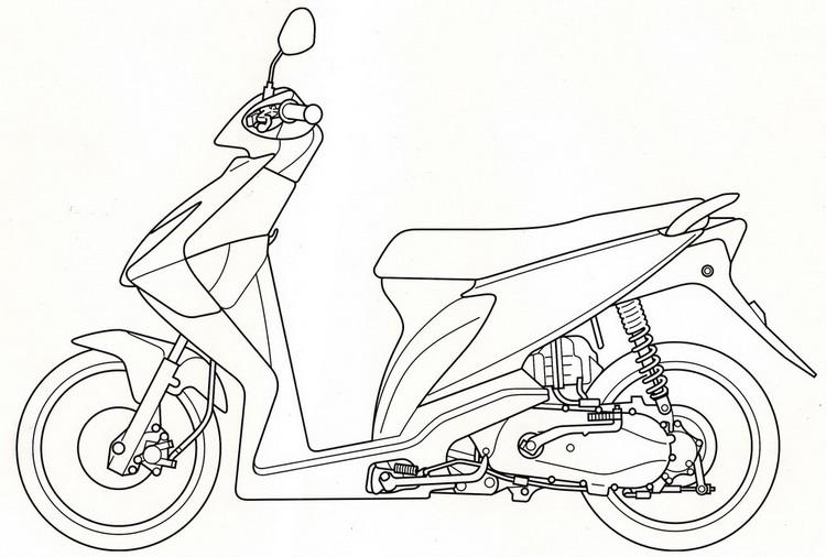 35 Ide Gambar Sketsa Sepeda Motor Beat Tea And Lead