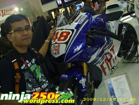 Taufik with Lorenzo's M1
