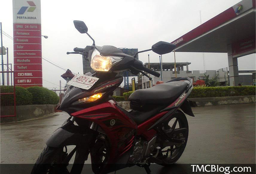 New Jupiter MX 2011 . . . 46 km per Liter Premium Februari 9, 2011