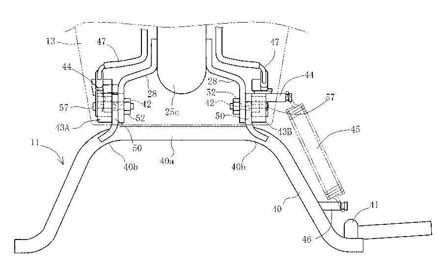 lucu juga desain patent honda tentang main stand switch