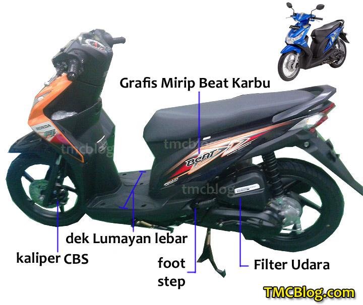 Penampakan Hero Bike Next New Honda Beat FI Orange CBS BeatFI Kiri Samping
